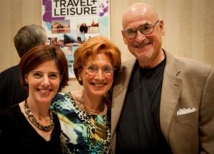 Touro Rabbi Alexis Berk with Shannie and Rabbi Emeritus David Goldstein