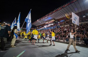 The opening ceremony of the Maccabiah Games in Jerusalem's Teddy Stadium