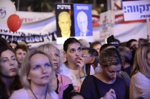 Thousands attend a rally marking 20 years since the assassination of the late Israeli Prime Minister Yitzhak Rabin at Tel Avivs Rabin Square on October 30, 2015, Yitzhak Rabin was assassinated on November 4, 1995 by an Israeli extremist during a pro-peace rally in Tel Aviv.  Photo by Tomer Neuberg/Flash90