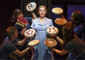 "Jessie Mueller, center, stars as Jenna in ""Waitress,"" with music by Sara Bareilles. (Photo by Joan Marcus)"