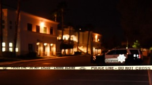 LAS VEGAS, NV - FEBRUARY 27:  Police tape blocks a parking lot at the Jewish Community Center of Southern Nevada after an employee received a suspicious phone call that led about 10 people to evacuate the building on February 27, 2017 in Las Vegas, Nevada. Las Vegas Metropolitan Police Department spokesman Danny Cordero said the nature of the call led officers to believe there might be a suspicious device inside but none was found. He said police are stepping up patrols around Jewish institutions in Las Vegas following the fifth wave of bomb threats since January against Jewish community centers and schools across the country on Monday and recent vandalism of Jewish cemeteries.  (Photo by Ethan Miller/Getty Images)