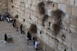 JERUSALEM, ISRAEL - JANUARY 17: People pray at the Western Wall in the Old City on January 17, 2017 in Jerusalem, Israel. 70 countries attended the recent Paris Peace Summit and called on Israel and Palestinians to resume negotiations that would lead to a two-state solution, however the recent proposal by U.S President-elect Donald Trump to move the US embassy from Tel Aviv to Jerusalem and last month's U.N. Security Council resolution condemning Jewish settlement activity in the West Bank have contributed to continued uncertainty across the region. The ancient city of Jerusalem where Jews, Christians and Muslims have lived side by side for thousands of years and is home to the Al Aqsa Mosque compound or for Jews The Temple Mount, continues to be a focus as both Israelis and Palestinians claim the city as their capital. The Israeli-Palestinian conflict has continued since 1947 when Resolution 181 was passed by the United Nations, dividing Palestinian territories into Jewish and Arab states. The Israeli settlement program has continued to cause tension as new settlements continue to encroach on land within the Palestinian territories. The remaining Palestinian territory is made up of the West Bank and the Gaza strip.  (Photo by Chris McGrath/Getty Images)
