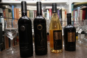 Bottles from the Psagot and Shiloh wineries. (Photo by Ehud Amiton/TPS)