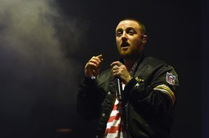 Mac Miller performing at Exposition Park in Los Angeles, Oct. 28, 2017. (Kevin Winter/Getty Images)