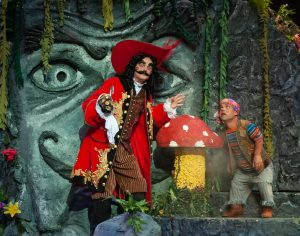 "Captain Hook (Jimmy Murphy) and Smee (Matthew Shurley) in ""Peter Pan."" (Photo by John Barrois)"