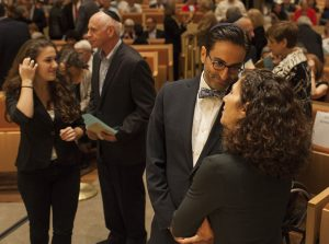 People crowd the sanctuary of Adas Israel Congregation in Washington, D.C., for a building dedication ceremony, Oct. 2, 2013. The synagogue is maintaining its annual dues this year but expects a budget shortfall. (Jared Soares/The Washington Post via Getty Images)